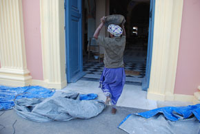 "the restoration of  "" Our Lady of Angels "" - Pondicherry"